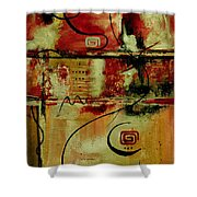 Crimson And Copper Shower Curtain