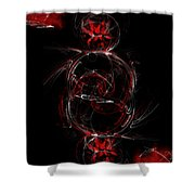 Crimson Dream Shower Curtain