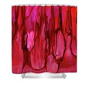 Crimson Forest Shower Curtain