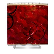 Crimson Shower Curtain