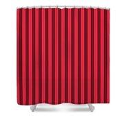 Crimson Red Striped Pattern Design Shower Curtain