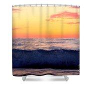Crimson Wave Art Shower Curtain