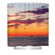 Crimson Yachting  Shower Curtain
