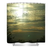 Crinkled Forehead Lines In The Sky Shower Curtain