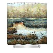 Crisp Fall Evening Shower Curtain