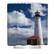 Crisp Point Lighthouse 7 Shower Curtain