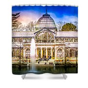 Cristal Palace Retiro Madrid Shower Curtain
