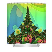 Cristmas Tree 2 Shower Curtain