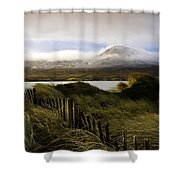 Croagh Patrick, County Mayo, Ireland Shower Curtain by Peter McCabe