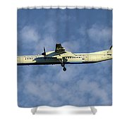 Croatia Airlines Bombardier Dash 8 Q400 Shower Curtain