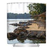 Croatia Seaside Shower Curtain