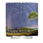 Croatia Star Trails Shower Curtain