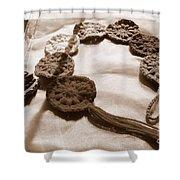 Crochet Chakras And Buddha Shower Curtain