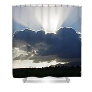 Crocodile Clouds Sunrays And Mt Bartle Frere Fnq  Shower Curtain