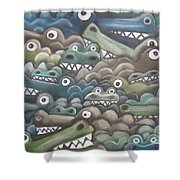 Crocodile Soup Shower Curtain