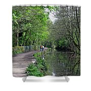 Cromford Canal - Tree Lined Walk Shower Curtain