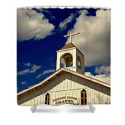 Crooked Creek Chapel Shower Curtain