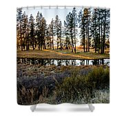 Crooked Creek Sunset Shower Curtain