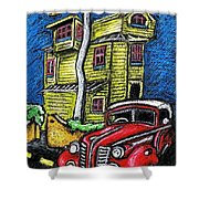 Crooked House Shower Curtain