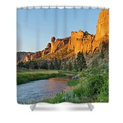 Crooked River And Monkey Face At Smith Rock Shower Curtain