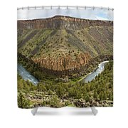 Crooked River Gorge Shower Curtain