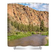 Crooked River II Shower Curtain