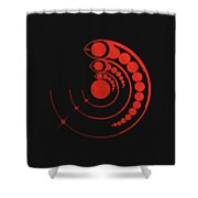 Crop Circle Formation Near Avebury Stone Circle In Wiltshire England In Red Shower Curtain
