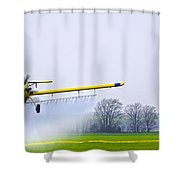 Too Close For Comfort - Crop Dusting 2 Of 2 Shower Curtain
