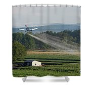 Crop Dusting Shower Curtain
