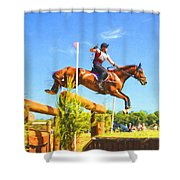 Crop In Hand Shower Curtain