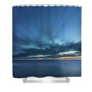 Crosby Beach High Tide Shower Curtain
