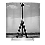 Crosby Beach Shower Curtain