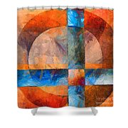 Cross And Circle Abstract Shower Curtain