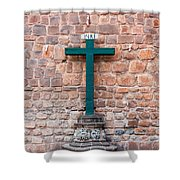 Cross And Cusco Cathedreal Shower Curtain