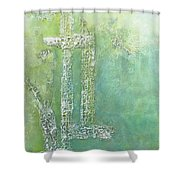Cross And Fish  Shower Curtain