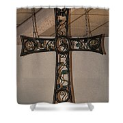 Cross At St. Magdalena Church Shower Curtain