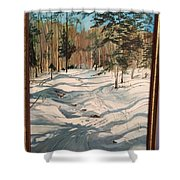 Cross Country Ski Trail Shower Curtain