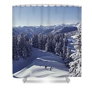 Cross-country Skiing In Aspen, Colorado Shower Curtain
