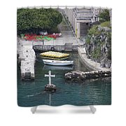 Cross In A Harbor Shower Curtain