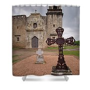 Cross Markers Shower Curtain