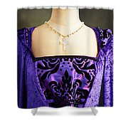 Cross Necklace Shower Curtain