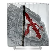 Cross Of Burgundy And Spanish Crest Shower Curtain