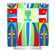 Cross Of Colors Shower Curtain