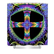 Cross Of One Way To God Shower Curtain
