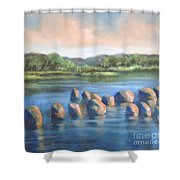 Cross Of Rocks  Shower Curtain