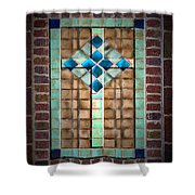 Cross On The Wall Shower Curtain