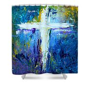 Cross - Painting #4 Shower Curtain