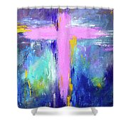 Cross - Painting #5 Shower Curtain