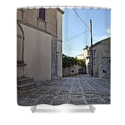 Cross Road In Sicily Shower Curtain
