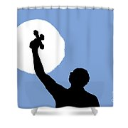 Cross Sky Shower Curtain